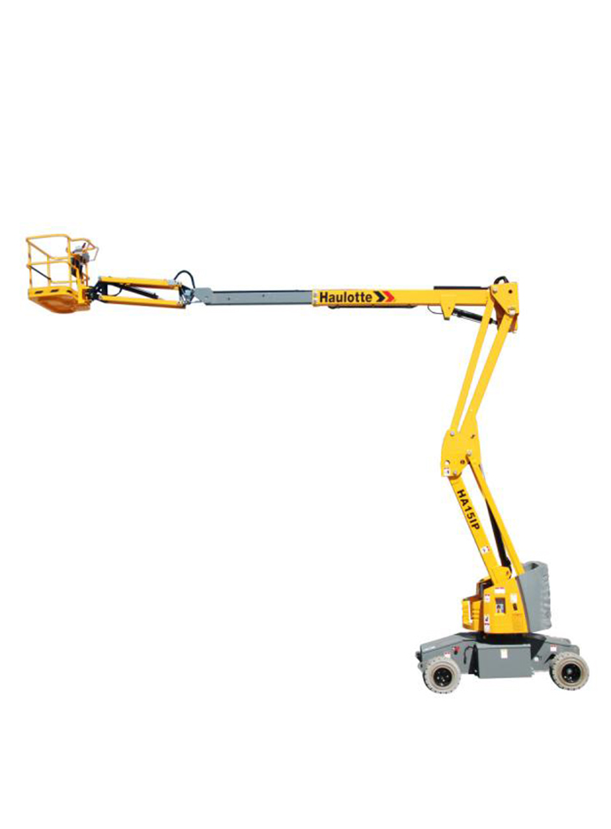 Articulated electric booms